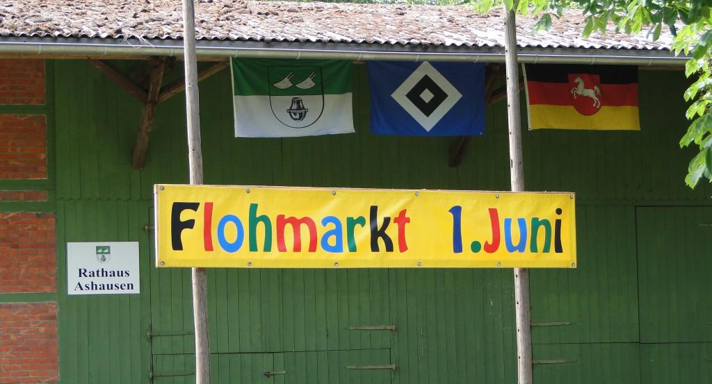 Hinweisbanner Flohmarkt 1. Juni