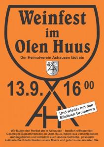 Plakat Weinfest Ashausen 2014
